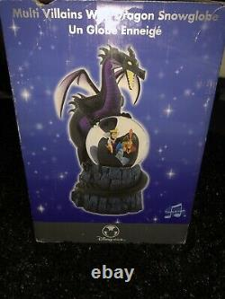 Disney Multi Villain Snow Globe And Music Box- New In Box