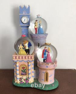 Disney Musical Box Snow globe Beauty And The Beast Cinderella Aurora