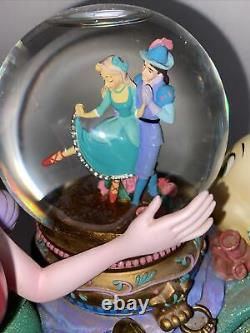 Disney Musical Rotating Snow Globe The Little Mermaid Under the Sea 8.5 Tall