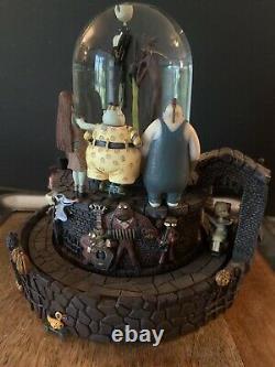 Disney Nightmare Before Christmas Snow Globe Music Box Light Collectible Vintage