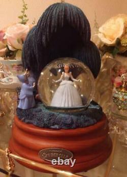 Disney Original Cinderella Snow Globe Dome Music Box Princess Collectible F/s