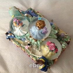 Disney Parade Cinderella Belle Ariel Little Mermaid Figurine Music Snowglobe-MIB