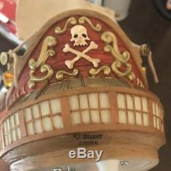 Disney Peter Pan Captain Hook Pirate Ship Musical Lighted Snow Globe You Can Fly