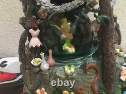 Disney Peter Pan Tinkerbell Snow Globe Light with Music Box Good Condition used JP