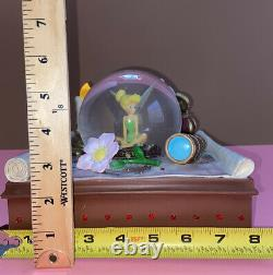 Disney Peter Pan Tinkerbell Snow Globe Map You Can Fly Musical Lights Up