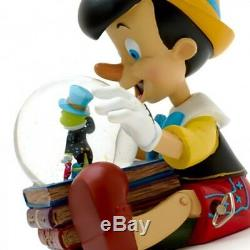 Disney Pinocchio Musical Snow Globe, Disneyland Paris Original N1964