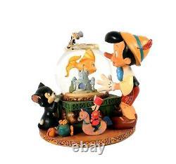 Disney Pinocchio Snow Globe Musical Fishbowl in Box RARE