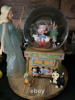 Disney Pinocchio & The Blue Fairy Snow Globe, Music Box Plays Toyland