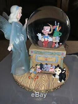 Disney Pinocchio with Blue Fairy Musical Snowglobe