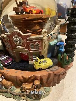 Disney Pixar CARS Radiator Springs Flo's Cafe Musical Figurines SnowGlobe