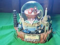 Disney Pixar CARS SnowGlobe Radiator Springs Flo's Cafe Mater Doc Musical