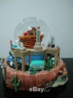 Disney Pixar Cars Radiator Springs Flo's Cafe Musical Snowglobe Waterglobe VHTF
