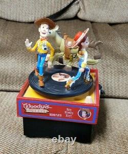 Disney Pixar Toy Story Extremely Rare Music Box Woody's Roundup Record Player