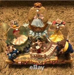 Disney Princess Ariel Cinderella Bell Snow Globe With Music Box And Lights F/s