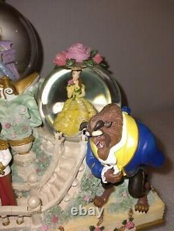 Disney Princess Fairy Tales Musical Snow Globe Ariel Belle Cinderella The Beast