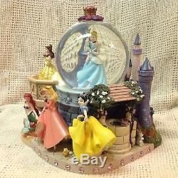 Disney Princesses MAGICAL WISHING PLACES Musical Snow Globe-MIB