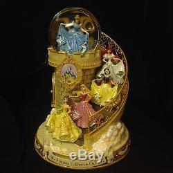 Disney Princesses Staircase HAPPIEST CELEBRATION ON EARTH Musical SnowGlobe-MIB