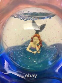 Disney RARE BROADWAY ARIEL THE LITTLE MERMAID MUSICAL SNOWGLOBES