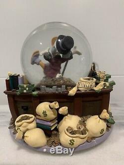 Disney Scrooge McDuck FEELS GOOD TO BE RICH Musical Figurines SnowGlobe