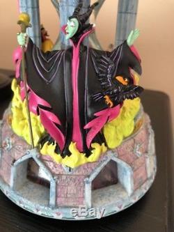 Disney Sleeping Beauty Maleficent Hour Glass Snowglobe Light Up Music box