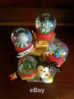 Disney Snow Globe-4 Snow Globes Parks Walt Disney World-Mickey Mouse Music box