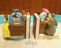 Disney Snow Globe Bookends with Music box Snow dome Toy Story Snow White