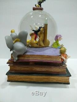 Disney Snow Globe Books Fiber Optic 75th Anniversary Dream Heart Makes Musical