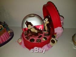 Disney Snow Globe Chip and Dale Valentine's Day Musical RARE