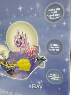 Disney Snow Globe Multi Characters Musical Lights Up with Original Box