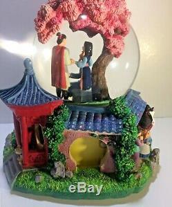 Disney Snow Globe Music Box Mulan Tune Reflection 9x7 Limited Edition Vintage