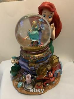 Disney Snow Globe The Little Mermaid Ariel & Music box Under the Sea Heavy