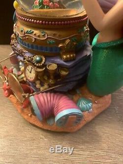 Disney Snow Globe The Little Mermaid Ariel & Music box Under the Sea RARE VTG