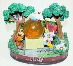 Disney Snowglobe Alice in Wonderland Music The Unbirthday Song Mad Tea Party
