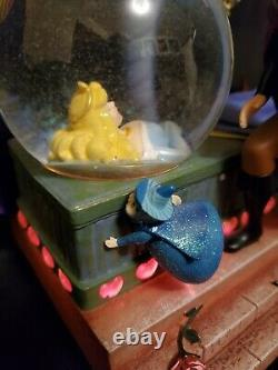 Disney Snowglobe Sleeping Beauty Rare Music box Once Upon a Dream Lights work