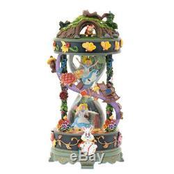 Disney Store 25th Anniversary Alice Snow Dome Music Box Rare Item New