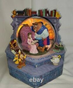 Disney Store Beauty And The Beast Snow Globe Tale As Old As Time Music Rare
