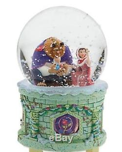 Disney Store Beauty and the Beast Belle Snowglobe Music Lighted 2016 New
