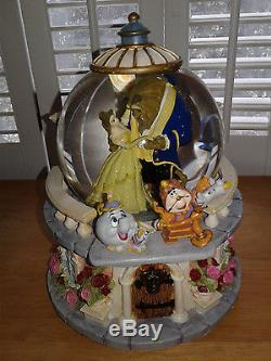 Disney Store Beauty And The Beast Musical Princess Snowglobe Belle