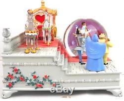 Disney Store Cinderella Wedding Musical Snow Globe 60th Anniversary Ltd Ed NEW