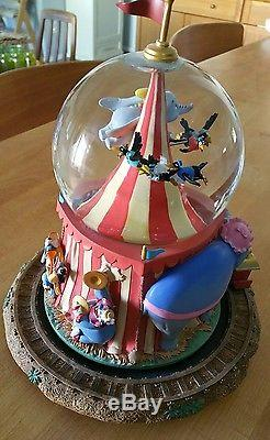 Disney Store Dumbo Musical Snowglobe! Train, Timothy, Circus Tent, Casey Junior