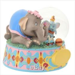 Disney Store Japan 25th anniversary Dumbo Snow globe with music box82