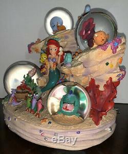 Disney Store Little Mermaid Water Globe 1988 Under the Sea Ariel Musical