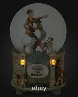Disney Store Musical Light-Up Snowglobe 101 Dalmatians Pongo Perdita Dalmatians