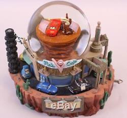 Disney Store Pixar Cars Radiator Springs Large Music Snowglobe Glitter Globe