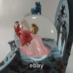 Disney Store RARE Aurora with Fairies Snow Globe works/music sleeping beauty