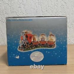 Disney Store Snowglobe Casey Junior & Dumbo Triple Snow Globe Musical Snowglobe