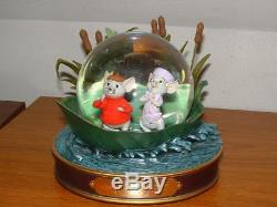 Disney Store THE RESCUERS 30th Anniversary Musical Snow Globe, Limited Edition