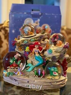 Disney Store The Little Mermaid Snow Globe Musical Under The Sea Music in Box
