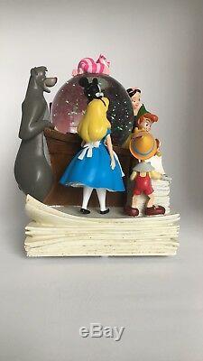 Disney Store Through The Years Vol. 1 Musical Snow Globe Mickey Alice Pooh Baloo