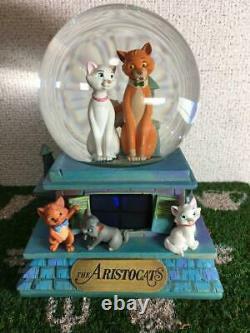 Disney The Aristocats Snow Globe with Music Box Original Free Shipping from JPN